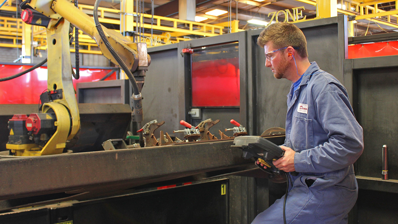 Contract Fabrication Robotic Welder Weld Operator